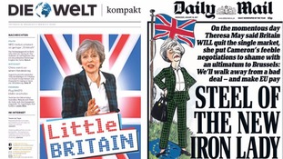 Die Welt and the Daily Mail reacted differently to May's announcement