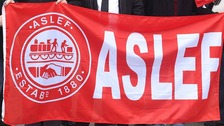 ASLEF protest flag