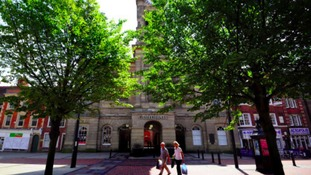 Library photo of Guildhall and Market Hall in Derby city centre.
