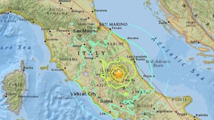 Three earthquakes have shaken central Italy