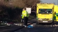Woman killed as driver crashes near primary school