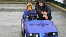Five-year-olds learning to drive in Cheltenham
