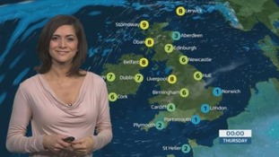 Milder in the north, much colder in the south