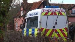 Armed officers, dog units and the police helicopter have all been out in the village of Crowfield.