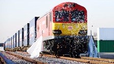 China's first direct freight train to UK arrives