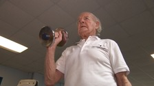 Meet the WWII veteran still hitting the gym - aged 98