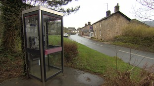 The public phone at the heart of the village.