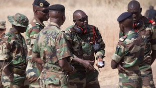 File photo of Senegalese troops during a training exercise