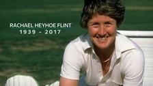 Former England captain Rachael Heyhoe Flint dies aged 77