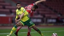 Norwich City's Josh Murphy in action at St Mary's.