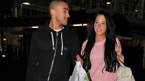 Danny Simpson and Tulisa Contostavlos
