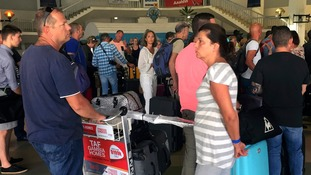 The first british travellers evacuated from Gambia returned to the UK overnight.