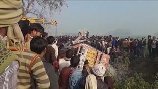 At least 24 children die in school bus crash in India