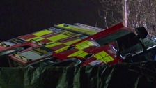 A pedestrian has been killed after being hit by a fire engine in Hertfordshire.