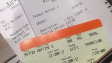 The £159 ticket bought by a Guernsey nurse