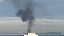 Fire on ferry as it crosses Solent to Isle of Wight