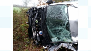 A car veered off the M1 northbound carriageway at Coalville