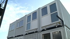 Shipping containers used to ease housing shortage