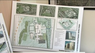 Architectural drawings of the new classrooms