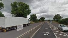 A lorry driver was robbed at gunpoint on the A5 in Witherley