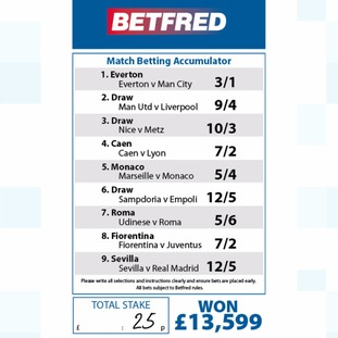 The accumulator slip.