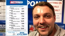 Punter wins £13k on 25p accumulator stake