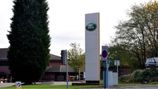 The victim lost a leg following an accident at the JLR plant in Solihull