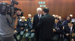 The men are given their honour