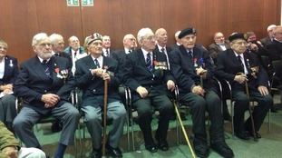 The veterans with their medals
