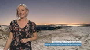 Wales Weather: Cold and clear in the south, cloudy in the north!