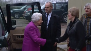 The Queen arrives for the WI meeting