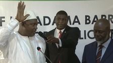 New Gambian President sworn in abroad as Brits evacuate