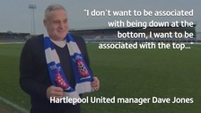 Hartlepool United manager Dave Jones unveiled