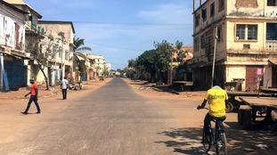 .Gambia's capital Banjul has been largely deserted due to fears of civil unrest.