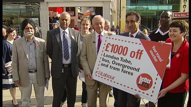 Ken Livingstone with a group of supporters