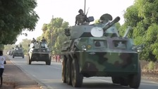 Senegal army cross into Gambia as new president sworn in