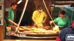 Cooking up some German sausage