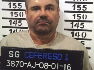 Guzman in prison in Mexico.