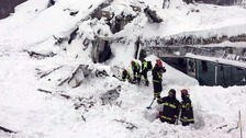 Six found alive in Italian hotel hit by avalanche