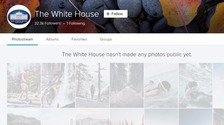 The photostream of the White House Flickr account is blank ahead of the Trump inauguration.