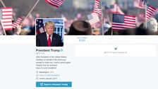 Trump is yet to tweet from the official Potus account