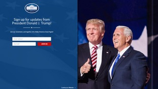 The White House website is now controlled by Trump's team