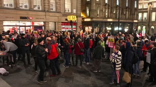 President Trump: Newcastle protest in pictures