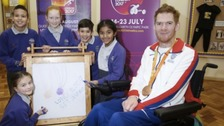 Paralympics hero inspiring the next generation