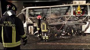 At least 16 dead in Italy school bus crash