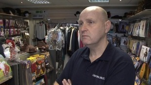 Chris Winter is offering a reward to catch the thieves who stole goods from his business