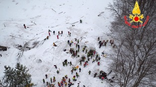 Italy avalanche: Four more survivors pulled from rubble