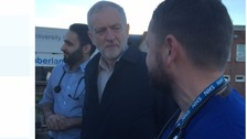 Jeremy Corbyn visits West Cumberland Hospital