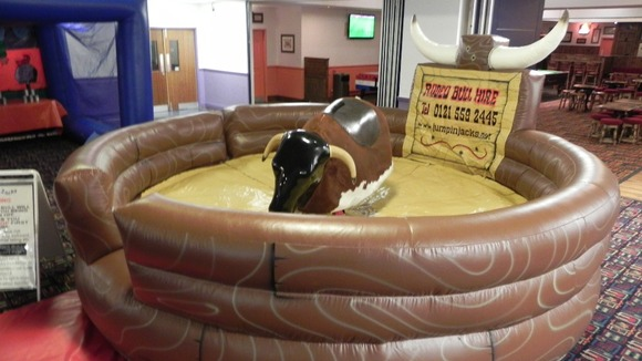 Many parts for the bucking bronco ride were left behind, leaving it worthless if thieves try to sell it