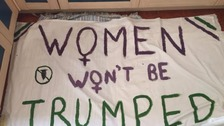 Women won't be trumped poster